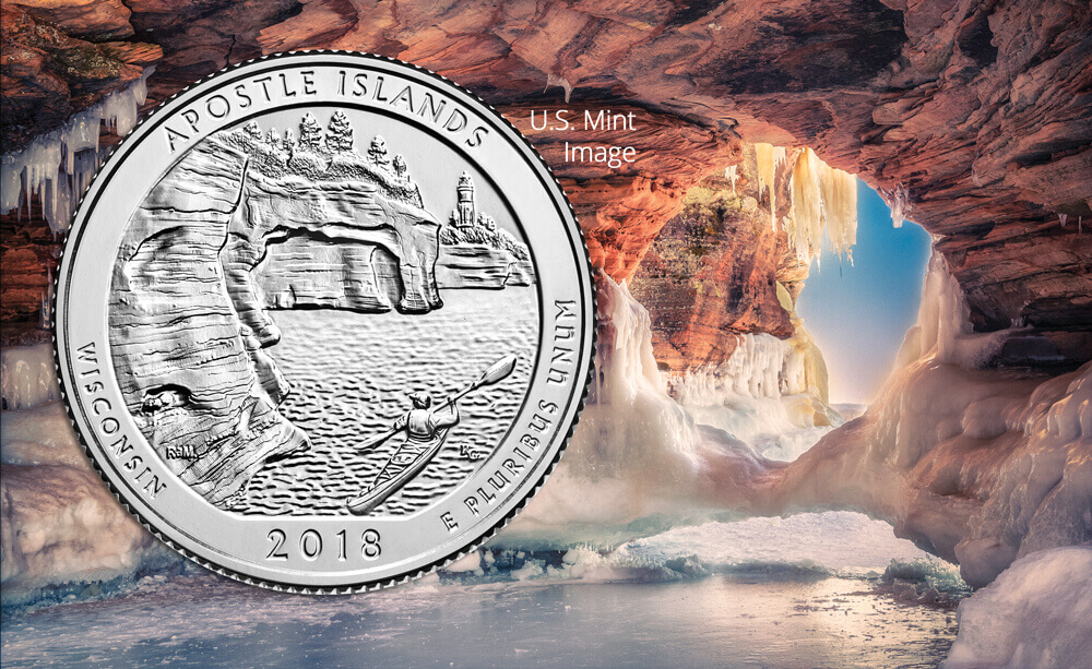 2018 Apostle Islands National Lakeshore Quarter launch held at the Legendary Waters Resort & Casino