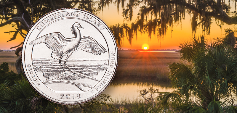 2018 Cumberland Island National Seashore Quarter released at local High School