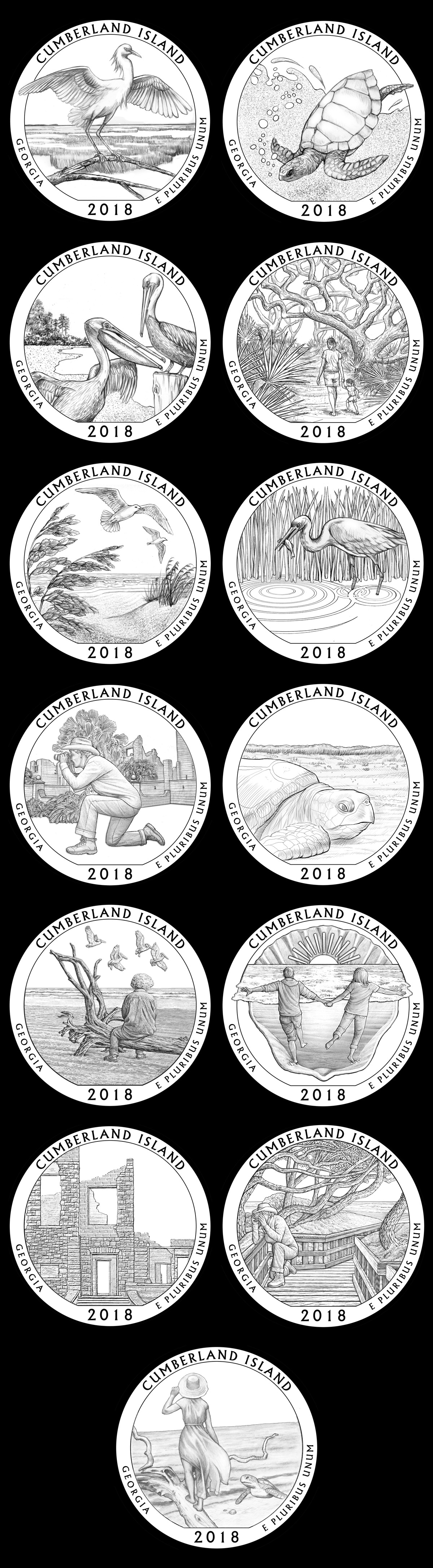 Candidate designs for new 2018 Cumberland Island National Seashore Quarter