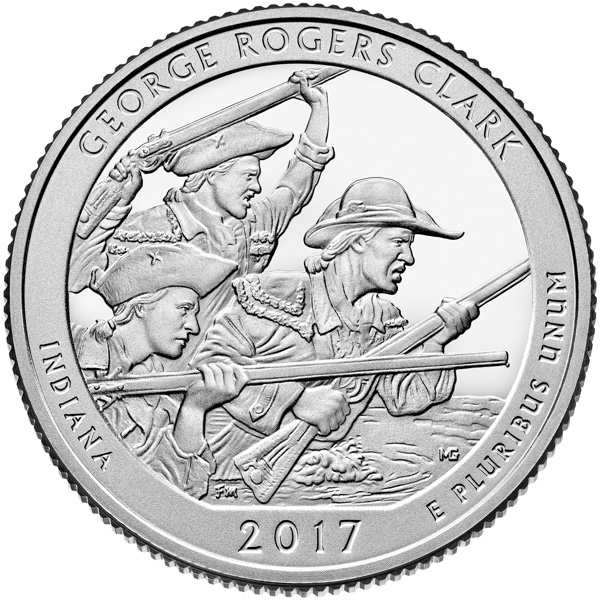 George Rogers Clark quarter design
