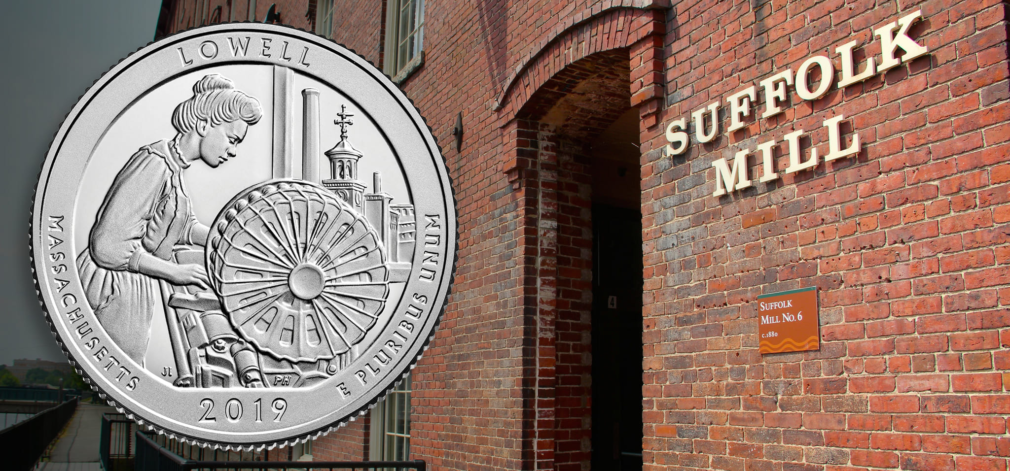 Lowell National Historical Park featured on 46th National Park Quarter