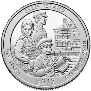Ellis Island National Monument quarter design