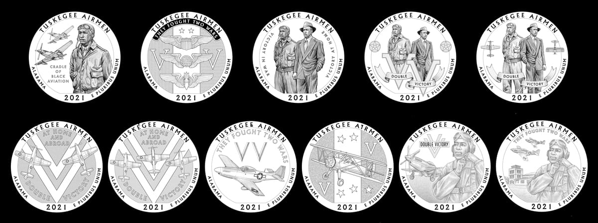 Candidate Designs for the 2021 Tuskegee Airmen National Historic Site Quarters